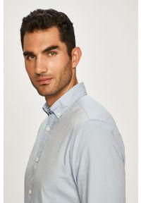 Niebieska koszula PRODUKT by Jack & Jones długa, button down, na co dzień #5