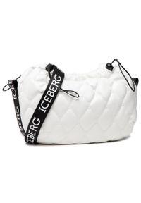 Iceberg - Torebka ICEBERG - 21E P2P1 7204 6983 1101 White. Kolor: biały. Materiał: skórzane. Styl: klasyczny