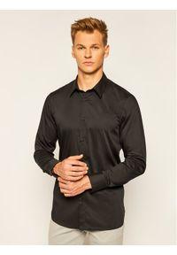 Czarna koszula biznesowa Guess