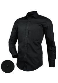 Czarna elegancka koszula Desire długa, na co dzień