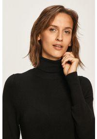 only - Only - Sweter. Typ kołnierza: golf. Kolor: czarny. Materiał: dzianina