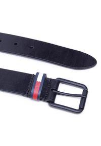 Tommy Jeans - Pasek Męski TOMMY JEANS - Tjm Casual Flag Belt 3.5 AM0AM07196 BDS. Kolor: czarny. Materiał: skóra ekologiczna. Styl: casual