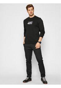 HUF Bluza HAZE Handstyle 1 PF00370 Czarny Regular Fit. Kolor: czarny