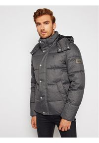 Calvin Klein Kurtka puchowa Quilted Wool Optic K10K106150 Szary Regular Fit. Kolor: szary. Materiał: puch