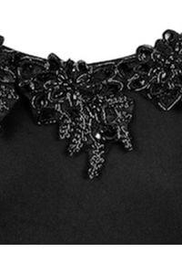 LA REVECHE - Body principessa. Kolor: czarny. Materiał: tkanina, koronka. Wzór: koronka