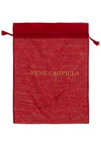 RENE CAOVILLA - Białe sneakersy Xtra z fioletowymi kryształami. Nosek buta: okrągły. Kolor: biały. Materiał: guma. Wzór: napisy, aplikacja #7