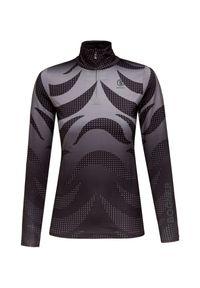 Czarny sweter Bogner z aplikacjami, krótki, z golfem