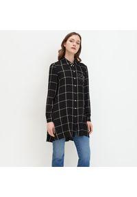 Mohito - Długa koszula z wiskozy - Czarny. Kolor: czarny. Materiał: wiskoza. Długość: długie
