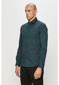 Zielona koszula Tom Tailor z klasycznym kołnierzykiem, klasyczna, długa