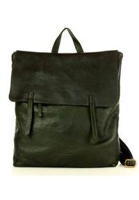 MARCO MAZZINI - Plecak damski zielony Marco Mazzini v115c. Kolor: zielony. Materiał: skóra. Styl: elegancki