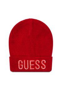 Czerwona czapka zimowa Guess
