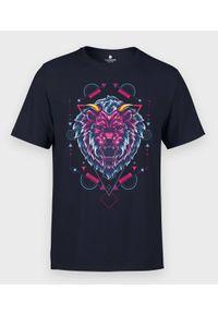 MegaKoszulki - Koszulka męska Czerwony Lew. Kolor: czerwony. Materiał: bawełna