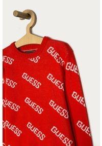 Pomarańczowy sweter Guess na co dzień, casualowy