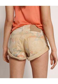 ONETEASPOON - Spodenki Tropical Bandits. Stan: obniżony. Kolor: beżowy. Materiał: jeans. Wzór: aplikacja #5