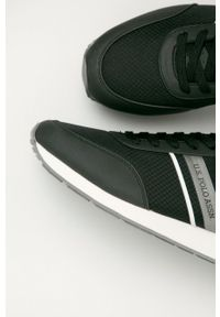 Czarne sneakersy U.S. Polo Assn z okrągłym noskiem, z cholewką