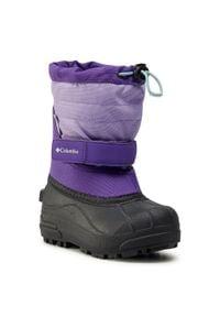 columbia - Śniegowce COLUMBIA - Childrens Powderbug™ Plus II BC1326 Emperor/Paisley Purple 513. Kolor: fioletowy. Materiał: materiał. Szerokość cholewki: normalna. Wzór: paisley