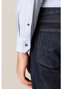 Eton - ETON - Koszula bawełniana. Typ kołnierza: kołnierzyk włoski. Kolor: niebieski. Materiał: bawełna