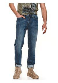 Niebieskie spodnie TOP SECRET długie, klasyczne