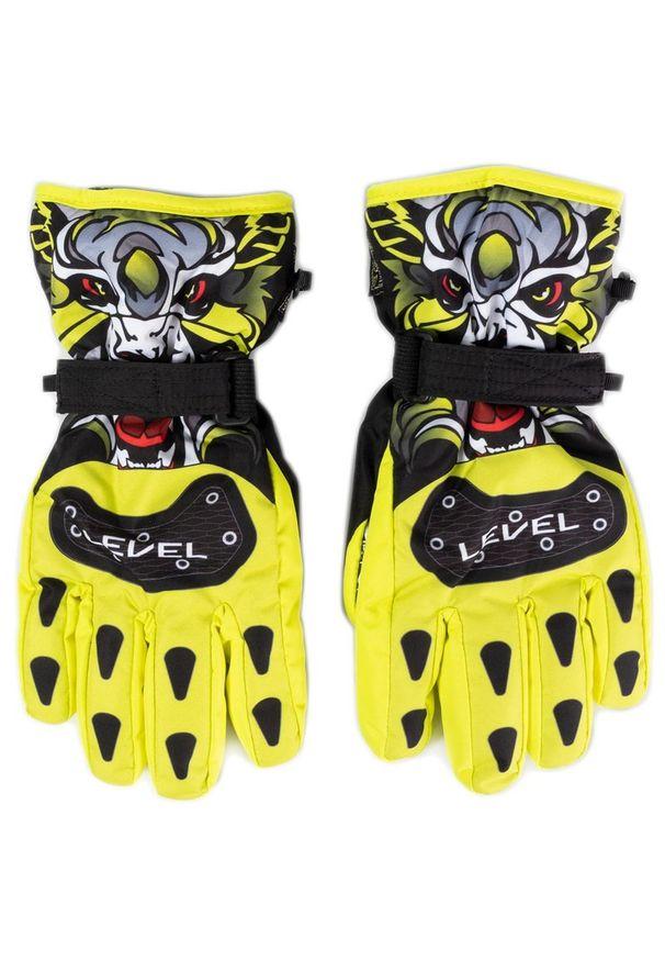 Żółta rękawiczka sportowa Level narciarska