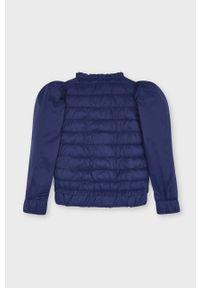Niebieska kurtka Mayoral gładkie, casualowa, na co dzień