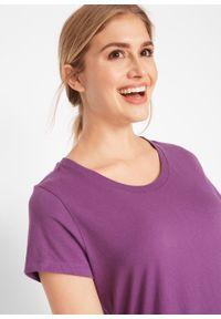 Shirt z okrągłym dekoltem (5 szt.), krótki rękaw bonprix szmaragdowy + jagodowy + fuksja + jasny miętowy + biały. Kolor: zielony. Materiał: jersey. Długość rękawa: krótki rękaw. Długość: krótkie