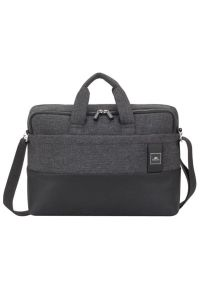 Czarna torba na laptopa RIVACASE melanż