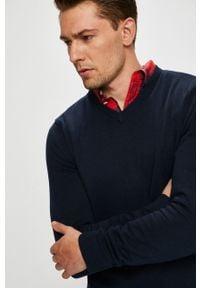 Niebieski sweter Jack & Jones na co dzień, casualowy