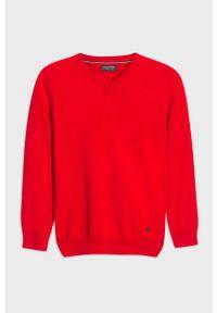 Czerwony sweter Mayoral z golfem, casualowy, na co dzień