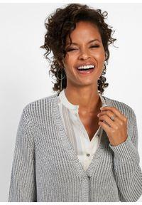 Szary sweter bonprix klasyczny, melanż