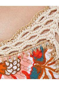 DEL MAAR - Top od bikini Suyay. Kolor: szary. Materiał: koronka. Wzór: kwiaty, kolorowy, aplikacja