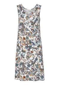 Cellbes Sukienka we wzory biały wzór paisley female biały 58/60. Kolor: biały. Materiał: jersey, wiskoza, włókno. Wzór: paisley