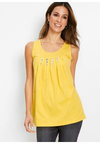 Top bonprix żółty tulipan - srebrny. Kolor: żółty #6