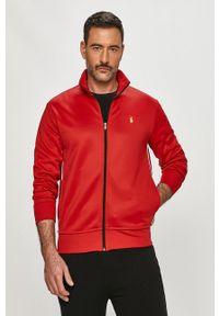 Czerwona bluza rozpinana Polo Ralph Lauren z aplikacjami, casualowa, polo, na co dzień