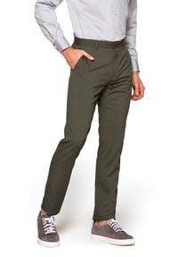 Lancerto - Spodnie Szaro-Zielone Nobel. Kolor: zielony. Materiał: tkanina, elastan, poliester, wiskoza, materiał. Sezon: lato. Styl: elegancki, sportowy