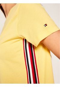 TOMMY HILFIGER T-Shirt Thea C-Nk Tee WW0WW28025 Żółty Regular Fit. Kolor: żółty