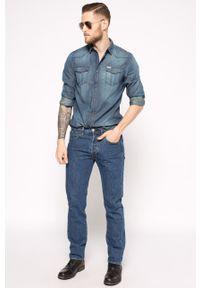 Niebieskie jeansy Levi's® biznesowe, z aplikacjami