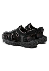 skechers - Sandały SKECHERS - Garver 64641/BLK Black. Kolor: czarny. Materiał: materiał, zamsz, skóra. Sezon: lato. Styl: klasyczny