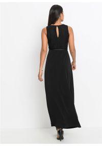 Czarna sukienka bonprix wizytowa, maxi