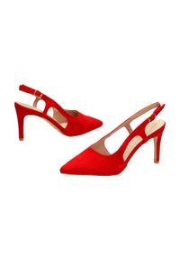 Czerwone sandały Sabatina klasyczne