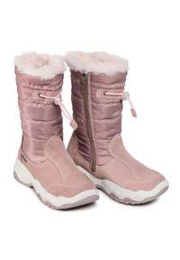 Różowe śniegowce Sergio Bardi Young na spacer