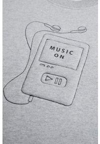 Szara bluza Mango Kids na co dzień, casualowa, z aplikacjami