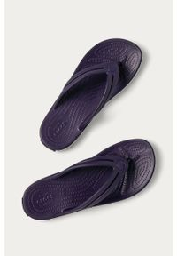 Fioletowe japonki Crocs bez obcasa