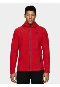 Czerwona bluza z polaru 4f z kapturem