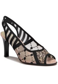 Czarne sandały Azurée
