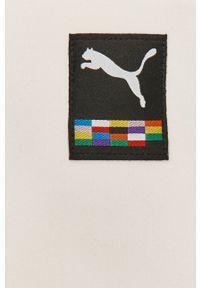 Biała bluza rozpinana Puma na co dzień, gładkie, casualowa, bez kaptura