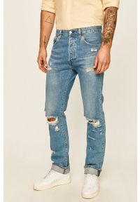 Niebieskie jeansy Levi's® w kolorowe wzory, na spotkanie biznesowe, biznesowe