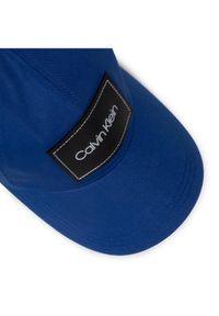 Calvin Klein Czapka z daszkiem Leather Patch Bb Cap K50K505490 Granatowy. Kolor: niebieski