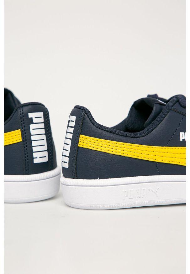 Niebieskie buty sportowe Puma z cholewką, na sznurówki