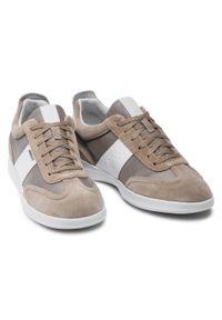 Geox - Sneakersy GEOX - U Kennet A U156FA 01422 C5004 Sand. Okazja: na co dzień. Kolor: beżowy. Materiał: skóra, materiał, zamsz. Szerokość cholewki: normalna. Styl: elegancki, klasyczny, casual