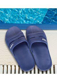Niebieskie klapki na basen LANO na plażę, w kolorowe wzory